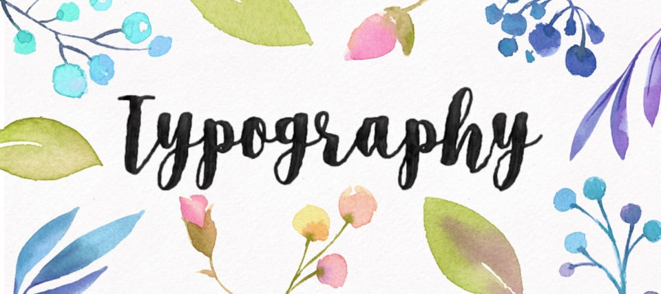 Create watercolor typography effect
