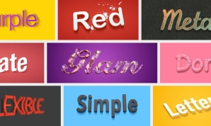 Text effect templates